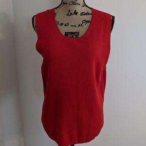 Ann Taylor red tank sleeveless top